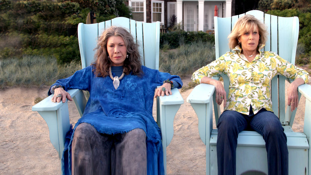 Image result for grace and frankie adirondack chairs on beach
